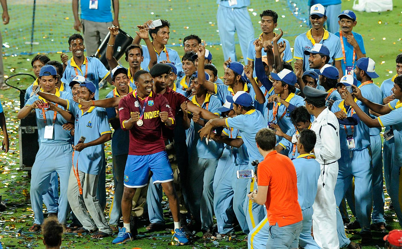Dance like it's 2016: though he might now be synonymous with club cricket worldwide, it is the World T20 titles with West Indies that Bravo particularly cherishes