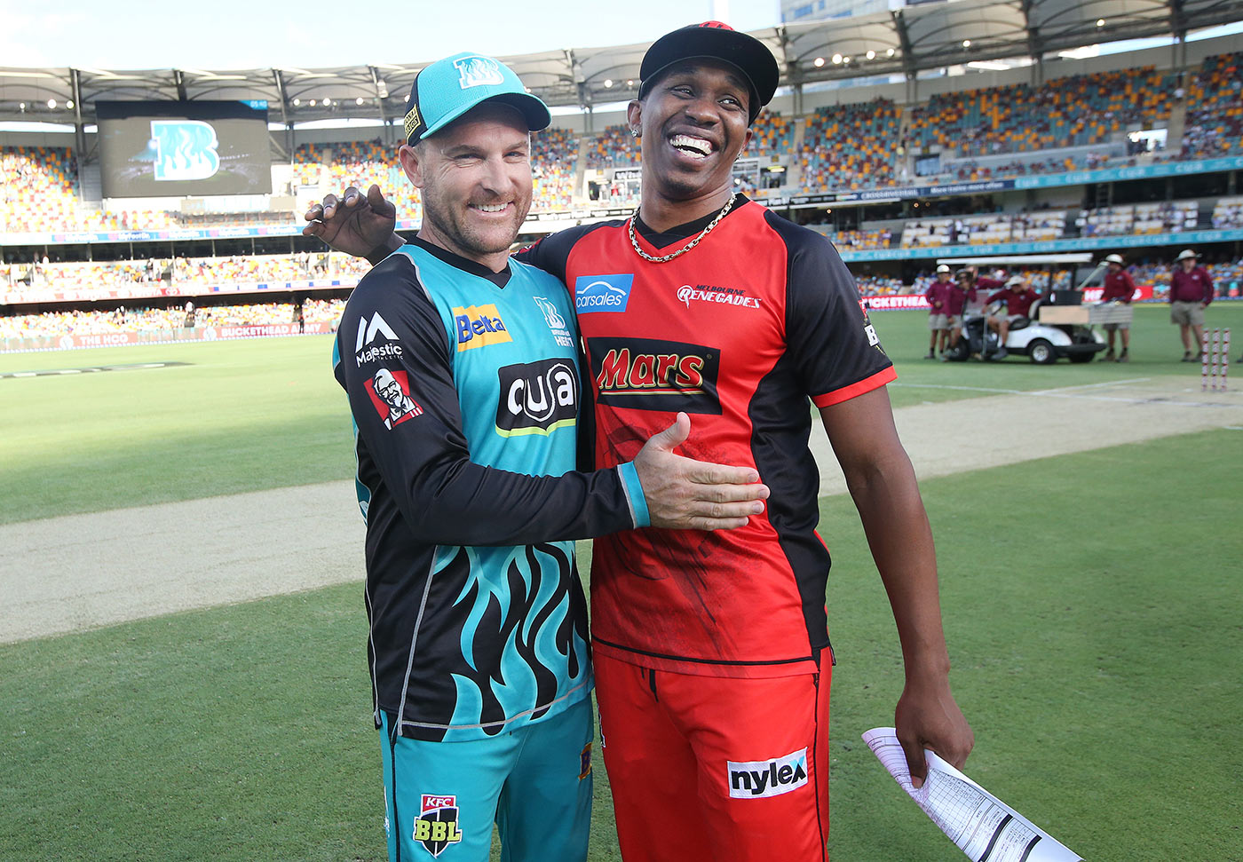 Same opponent, different day: the likes of Bravo and Brendon McCullum run into each other fairly frequently on the T20 circuit