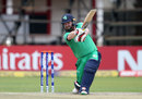 Paul Stirling drives through the covers, Ireland v Afghanistan, World Cup Qualifiers, Harare, 23 March, 2018