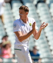 Morne Morkel is delighted after dismissing Usman Khawaja, South Africa v Australia, 3rd Test, Cape Town, 2nd day, March 23, 2018