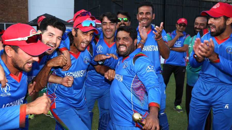 Mohammad Shahzad leads Afghanistan's post-match revelry