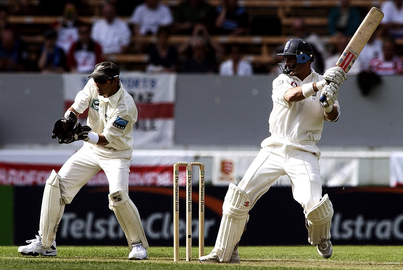 Nasser Hussain's 106, scored on day one under challenging conditions on a green pitch, was instrumental in England gaining the upper hand in the game