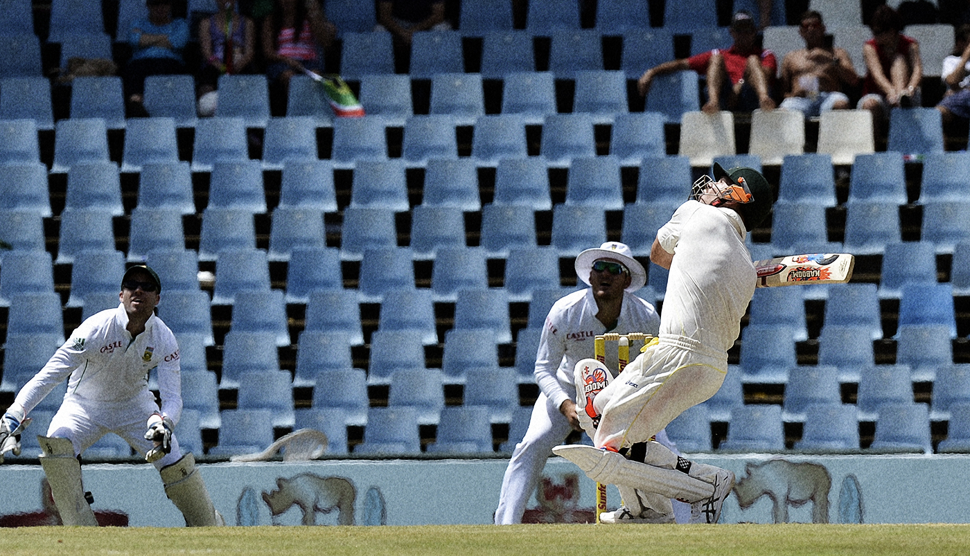 While Johnson kept South Africa's batsmen on their toes, David Warner brought their bowlers down to their knees