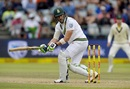 Faf du Plessis paddles towards the leg side, South Africa v Australia, 3rd Test, Cape Town, 3rd day, March 24, 2018