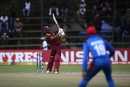 Shai Hope heaves one away into the leg side, Afghanistan v West Indies, World Cup Qualifier, final, Harare, March 25, 2018