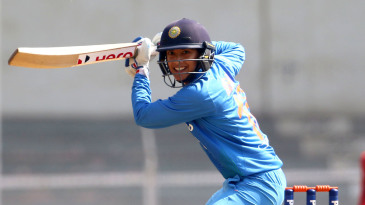 Smriti Mandhana guides the ball on the off side