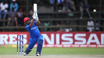 Mohammad Shahzad slams one down the ground