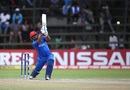 Mohammad Shahzad slams one down the ground, Afghanistan v West Indies, World Cup Qualifier, final, Harare, March 25, 2018