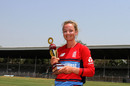 Danielle Wyatt was named the Player of the Match, India v England, Tri-Nation Women's T20 Series, Mumbai, March 25, 2018