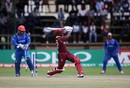 Rovman Powell was bowled trying to force a shot, Afghanistan v West Indies, World Cup Qualifier, final, Harare, March 25, 2018