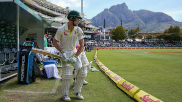 Cameron Bancroft was under massive scrutiny as he came out to bat