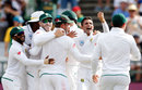 Keshav Maharaj claimed two in two balls, South Africa v Australia, 3rd Test, Cape Town, 4th day, March 25, 2018