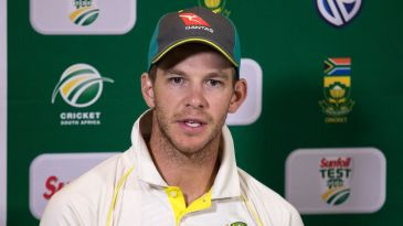 Australia's stand-in captain Tim Paine fronts the media