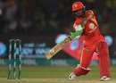 Sahibzada Farhan slaps the ball through cover, Peshawar Zalmi v Islamabad United, PSL final, Karachi, March 26, 2018