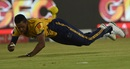 Chris Jordan takes a diving catch, Peshawar Zalmi v Islamabad United, PSL final, Karachi, March 26, 2018