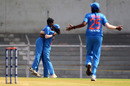 Pooja Vastrakar struck early in her spell, India v Australia, Tri-Nation Women's T20 Series, Mumbai, March 26, 2018