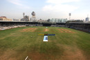 A view of the Brabourne Stadium with the two teams lined up, India v Australia, Tri-Nation Women's T20 Series, Mumbai, March 26, 2018