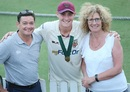 Matt Renshaw with his parents Ian and Alison, Queensland v Tasmania, Sheffield Shield 2017-18 final, Brisbane, March 27, 2018