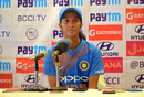Jemimah Rodrigues addresses her first press conference in India colours, India v Australia, Mumbai, March 26, 2018