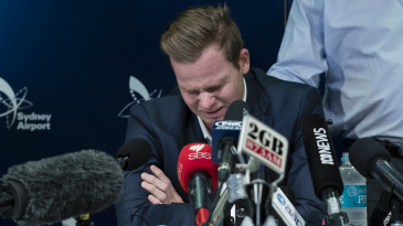 Steven Smith breaks down at the press conference