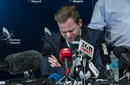 Steven Smith breaks down at the press conference in Sydney following the ball-tampering scandal in Cape Town, March 29, 2018