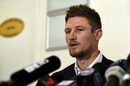 Cameron Bancroft speaks to the media after returning to Australia, Perth, March 29, 2018