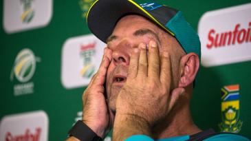 An emotional Darren Lehmann announced his resignation as Australia's head coach