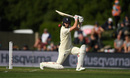 Mark Wood drives on his way to maiden Test half-century, New Zealand v England, 2nd Test, Christchurch, 1st day, March 30, 2018