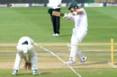 Short leg ducks for cover as Aiden Markram swats one away, South Africa v Australia, 4th Test, Johannesburg, 1st day, March 30, 2018