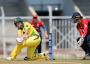 Meg Lanning crunches a sweep, Australia v England, Tri-Nations T20 Women's series, final, Mumbai, March 31, 2018