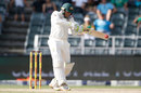 Usman Khawaja gets behind a short one, South Africa v Australia, 4th Test, 2nd day, Johannesburg, March 31, 2018