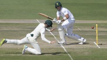 Aiden Markram flicks past forward short leg