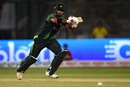 Hussain Talat watches the ball as he sets off for a run, Pakistan v West Indies, 1st T20I, Karachi, April 1, 2018