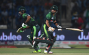 Fakhar Zaman and Babar Azam run between the wickets, Pakistan v West Indies, 1st T20I, Karachi, April 1, 2018