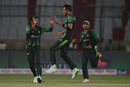 Mohammad Amir celebrates a wicket, Pakistan v West Indies, 1st T20I, Karachi, April 1, 2018