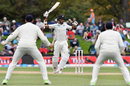 Jeet Raval was struck a painful blow in the ribs, New Zealand v England, 2nd Test, Christchurch, 4th day, April 2, 2018