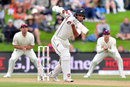 Jeet Raval dug in during a difficult opening, New Zealand v England, 2nd Test, Christchurch, 4th day, April 2, 2018