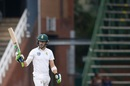 Faf du Plessis celebrates his fifty, South Africa v Australia, 4th Test, 4th day, Johannesburg, April 2, 2018