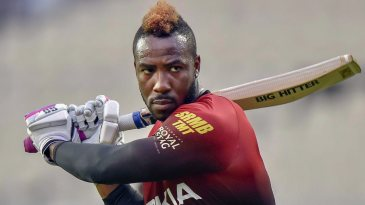 Big hitter: Andre Russell has his eyes on the ball