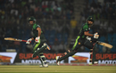 Babar Azam and Hussain Talat  run between the wickets, Pakistan v West Indies, 2nd T20I, Karachi, April 2, 2018