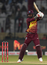 Marlon Samuels flays one through the off side, Pakistan v West Indies, 2nd T20I, Karachi, April 2, 2018