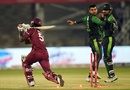 Shadab Khan and Sarfraz Ahmed celebrate a wicket, Pakistan v West Indies, 2nd T20I, Karachi, April 2, 2018