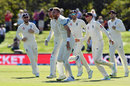 Stuart Broad claimed wickets with the first two balls of the morning, New Zealand v England, 2nd Test, Christchurch, 5th day, April 3, 2018