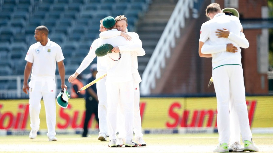 Hugs all around after South Africa's win