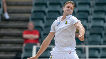 Morne Morkel in action on his last day as a Test cricketer