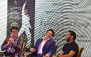 Sourav Ganguly, Sachin Tendulkar and Rohit Sharma at a book launch, Mumbai, April 4, 2018