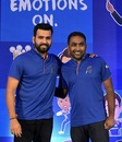 Mumbai Indians captain Rohit Sharma and coach Mahela Jayawardene at the pre-season press conference, Mumbai, April 5, 2018