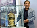 Arun Lal unveils the IPL trophy at a function in Kolkata, Kolkata, April 5, 2018