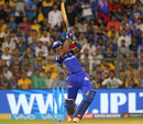 Suryakumar Yadav lofts one over the covers, Mumbai Indians v Chennai Super Kings, IPL 2018, Mumbai, April 7, 2018