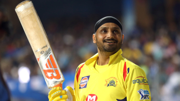 Harbhajan Singh flashes a smile before going in to bat